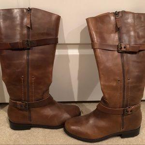 Matisse cognac genuine leather 'riding' boots